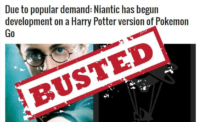 Due to popular demand: Niantic has begun development on a Harry Potter version of Pokemon Go